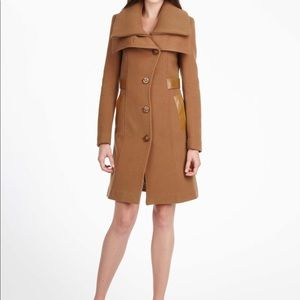 Mackage Nola Wool Coat Toffee Brown Sz S